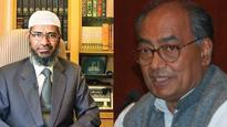 Digvijaya under fire for sharing stage with Zakir Naik in 2012; says he appealed for communal harmony