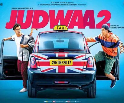 Check out the first poster of `Judwaa 2` feat. Varun Dhawan!