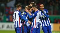 German Cup: Hertha Berlin survive late scare to make semifinals