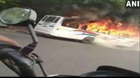 Delhi: School bus catches fire, students evacuated