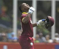 1st T20I: Evin Lewis hits 5 sixes in Stuart Binny over, misses Yuvraj Singh's record