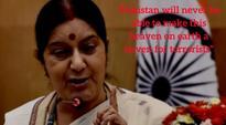 Sushma Swaraj slams Pakistan's Nawaz Sharif over Kashmir issue: Top quotes