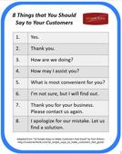 8 Things that You Should Say to Your Customers