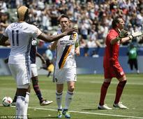 Steven Gerrard on target as LA Galaxy notch 300th win with victory over New England Revolution