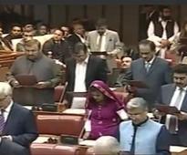 Pakistan Senate: Krishna Kohli, first Hindu Senator takes oath in tradional Thari attire