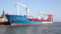 Turkish ship docks in Israel bearing aid bound for Gaza