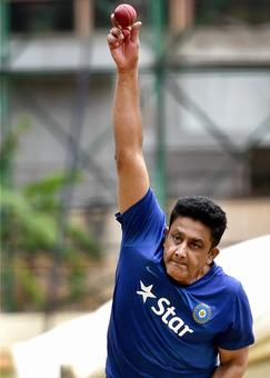 PHOTOS: Coach Kumble leads the way as Team India hits the nets