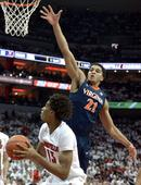 No. 16 Louisville falls to No. 11 Virginia, 63-47