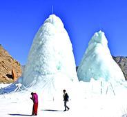 Ice Stupas woo hundreds of visitors on daily basis