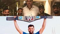 When 'WWE champ' Rohit Sharma KO'ed Virat Kohli on his picture with The Great Khali