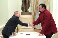 Actor Steven Seagal Gets a Special Delivery from Putin...and it Isn't a Movie Role