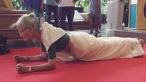WATCH: Milind Soman's mother Usha INSPIRES all, pulls of a plank for over a minute!