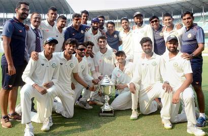 Vidarbha win Irani Trophy to complete grand double