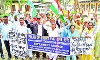 PoJK Refugees Front holds protest