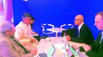 Andhra Pradesh CM holds bilateral talks with pharma, varsities in Davos