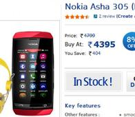 Nokia offers headset free with the Asha 305 at Rs 4395