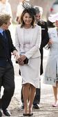 The first lady of wedding guest fashion? Kate Middleton's mum Carole