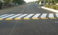 Delhi gets its first 3D painting speed breaker