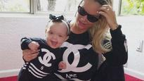 Coco Austin shares picture with baby in matching bikinis