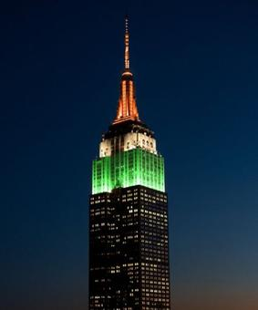 NYC's Empire State building dons India colours