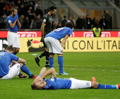 Heartbreak for Italy as they fail to qualify for World Cup