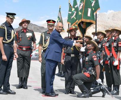 PHOTOS: President's Colours for Ladakh Scouts