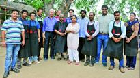 On a printing mission: Artists participate in the printmaking camp at Kismathpur