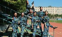 Freshmen show dance skills during military training