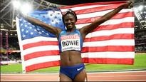 World Athletics Championship: USA's Tori Bowie wins women's 100 metre title