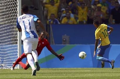 Neymar scores fastest goal in Olympic history as Brazil rout Honduras
