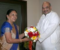 Gujarat CM meets BJP chief Amit Shah