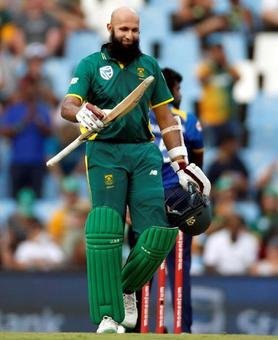 Amla, de Kock tons help South Africa whitewash SL