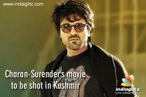 Charan-Surender's movie to be shot in Kashmir