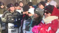 Labour unions rally in Gander to support locked out aerospace workers