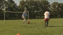 Watch: Corbyn plays football at Hackney Marshes