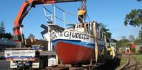 4 Hundertwasser's boat goes to new site