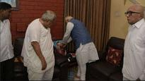 PM Modi visits ex-Gujarat CM Keshubhai Patel's home to condole his son's death