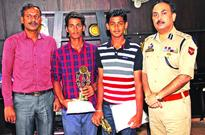 IGP Jammu felicitates Musaif, Rohan for performing well in Friendship Cricket Series