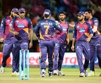 Dog invasion sparks chaos at IPL match Rising Pune bowler Ashok Dinda (C) celebrates dismissal of Delhi Daredevils ...