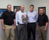 Baldor recognises FLANDERS as outstanding distributor with award