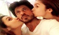 Alia Bhatt, Parineeti Chopra kiss 'Fan' actor Shah Rukh Khan when AbRam is asleep [PHOTO]