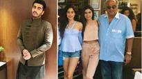 In Pics: Boney Kapoor visits Arjun Kapoor with his daughters Khushi and Janhvi