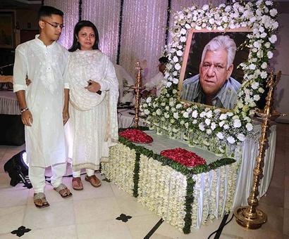 PIX: Abhishek-Aishwarya attend Om Puri's prayer meet