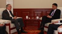 Executive Vice Chairman and CEO Zhang Xiaoqiang meets with French Ambassador Mau...