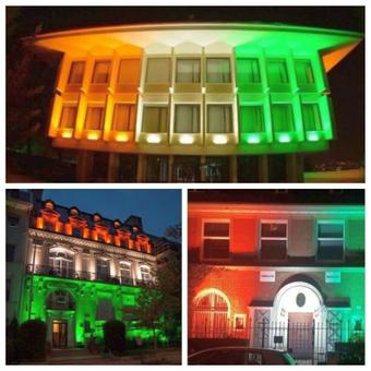 Indian embassies light up in colours of the Tricolour