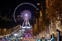 Paris' Champs-Elysees lit up with Christmas sparkle