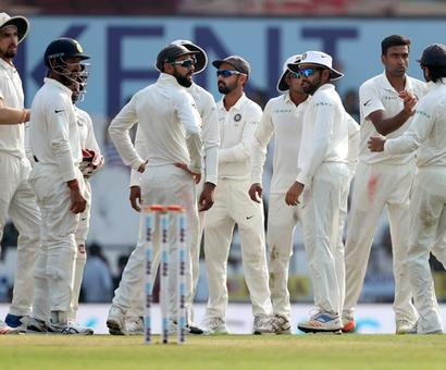 PHOTOS: Bowlers give India the upper hand on Day 1