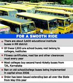 Crackdown on rickety college, school buses