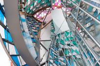 Artist Daniel Buren spruces up Gehry's Fondation Louis Vuitton with colorful intervention