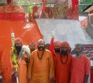 Chhari Mubarak taken to Sharika-Bhawani Temple